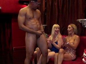 Busty Babes Enjoy Muscle Studs Big Brown Dick