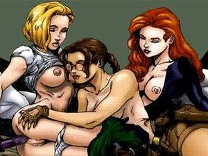 Cartoon Lesbien Sex